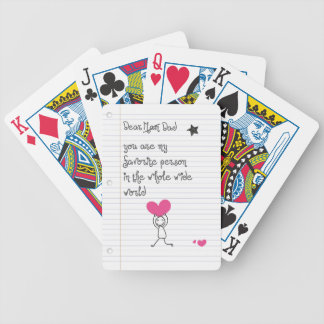 Dear Dad Bicycle Playing Cards