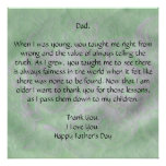 Dear Dad - Father's Day Poster