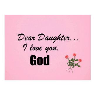 Dear Daughter, I love you. God Postcard