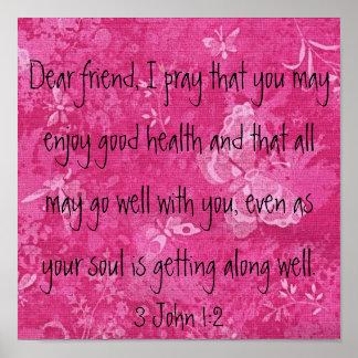 Dear Friend I pray bible verse Poster