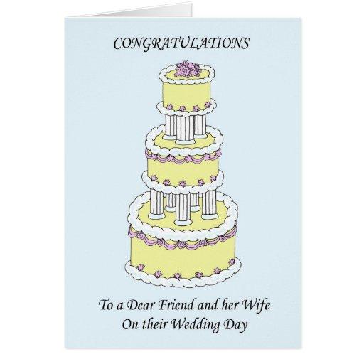 Dear friend & wife on Wedding Day Congratulations Card Zazzle