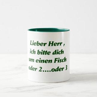 dear gentleman green Two-Tone coffee mug