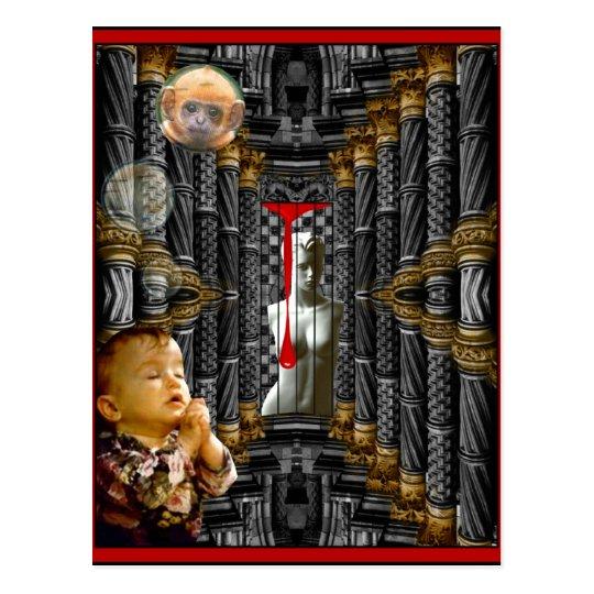 Dear God, I really need a baby monkey! Postcard