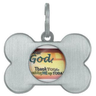 Dear God Pet Tags