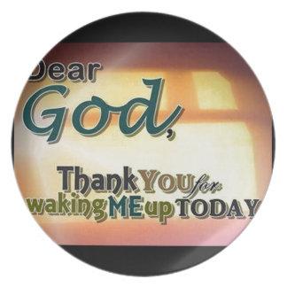 Dear God Party Plate