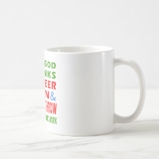 Dear God Thanks For Beer Men And Hammer throw Classic White Coffee Mug
