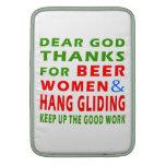 Dear God Thanks For Beer Men and Hang glide MacBook Sleeve