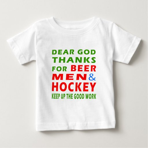 Dear God Thanks For Beer Men And Hockey Tee Shirts