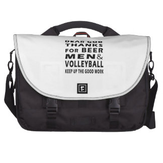 Dear God Thanks For Beer Men and Volleyball Bag For Laptop