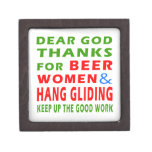 Dear God Thanks For Beer Women and Hang glide Premium Gift Box