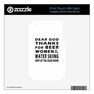Dear God Thanks For Beer Women and Water Skiing iPod Touch 4G Decal
