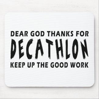 Dear God Thanks For Decathlon Mouse Pad