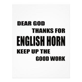 Dear God Thanks For English Horn Letterhead