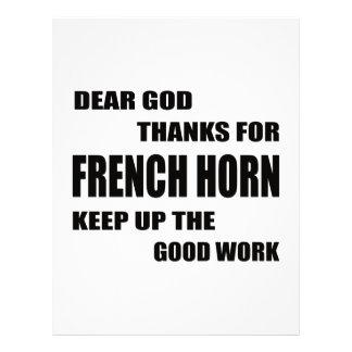 Dear God Thanks For french horn Letterhead