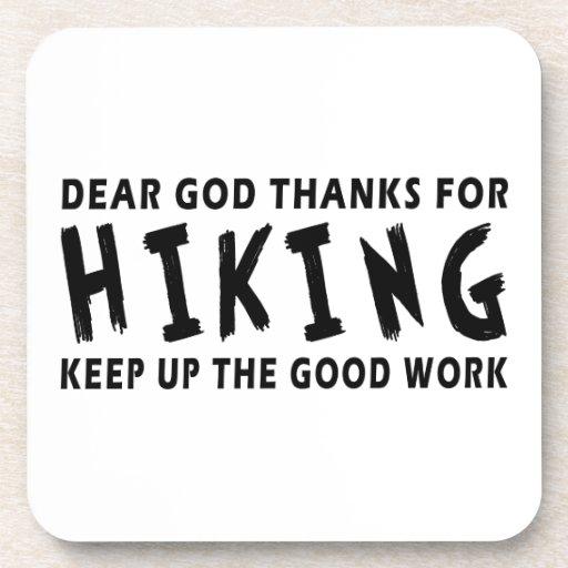 Dear God Thanks For Hiking Beverage Coaster