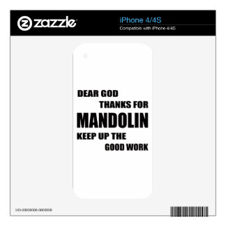 Dear God Thanks For mandolin Skin For iPhone 4