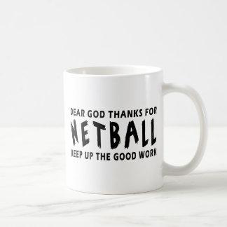 Dear God Thanks For Netball Mugs
