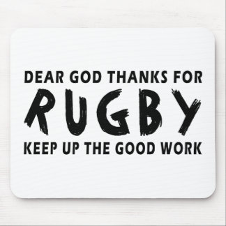 Dear God Thanks For Rugby Mouse Pad