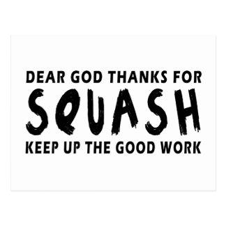 Dear God Thanks For Squash Post Cards
