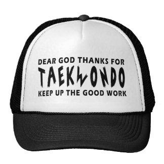 Dear God Thanks For Taekwondo Trucker Hats