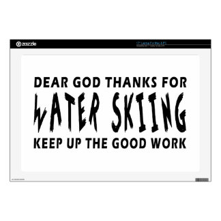 Dear God Thanks For Water Skiing Decals For Laptops
