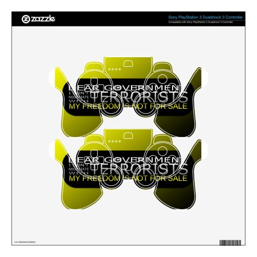 Dear Government: I Don't Negotiate With Terrorists PS3 Controller Decal