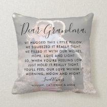Dear Grandma Custom Message Photo  Mother's Day Throw Pillow