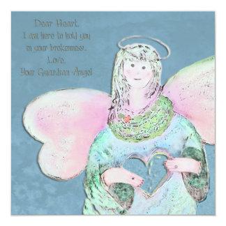"""Dear Heart Angel Invitation 5.25"""" Square Invitation Card"""