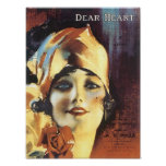 Dear Heart Vintage Songbbok Cover Poster