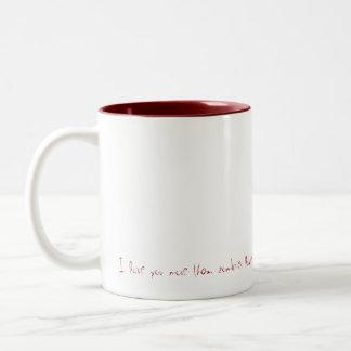 Dear, I love you lives than zombies love brain… Two-Tone Coffee Mug
