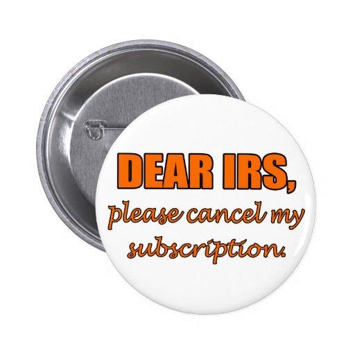 Dear IRS Pinback Button