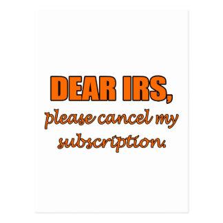 Dear IRS Postcard
