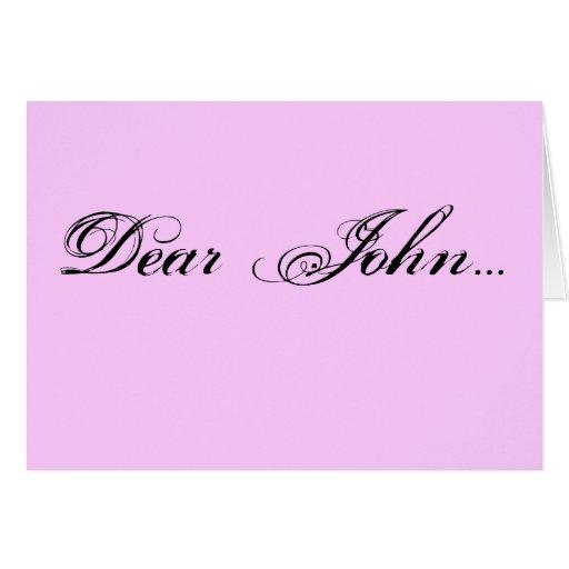 Dear John... Note Card