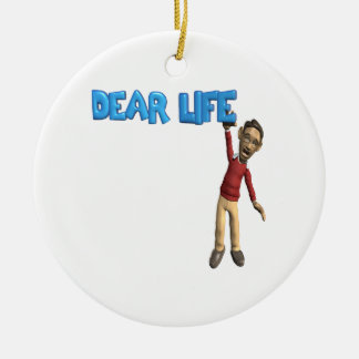 Dear Life Double-Sided Ceramic Round Christmas Ornament