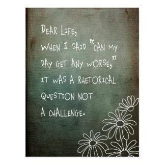 Dear Life Postcard