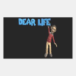 Dear Life Rectangular Sticker