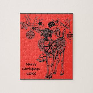 Dear Little Christmas Deer Got In Trouble! Design Jigsaw Puzzles