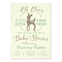 Dear little Deer baby shower invitation
