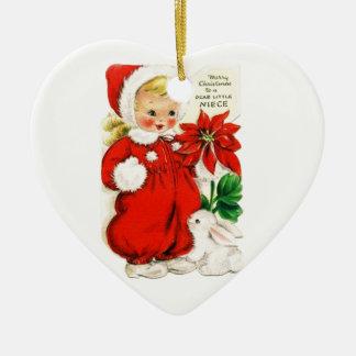 Dear Little Niece Ceramic Ornament