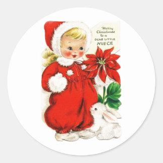 Dear Little Niece Classic Round Sticker