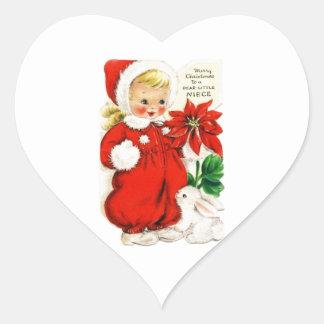 Dear Little Niece Heart Sticker