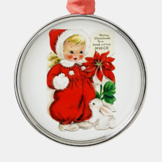Dear Little Niece Metal Ornament