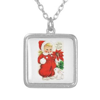 Dear Little Niece Square Pendant Necklace