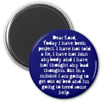 Dear Lord 2 Inch Round Magnet