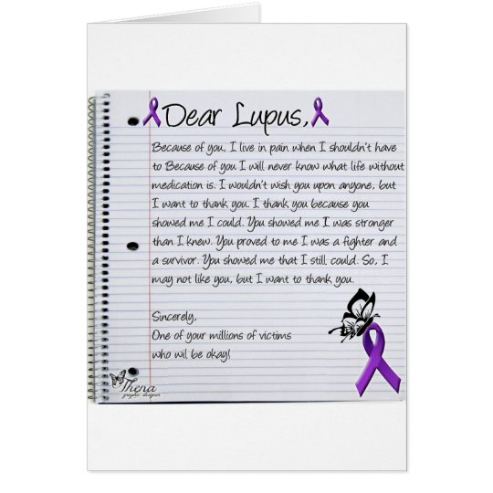 Dear Lupus.. Card