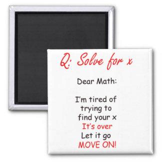 Dear Math Find Your Own X Magnet