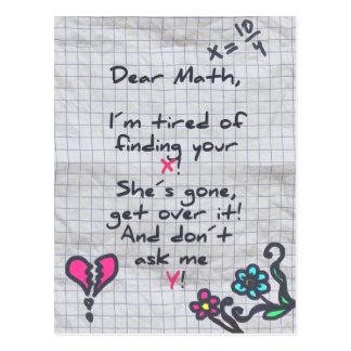 Dear Math Postcard