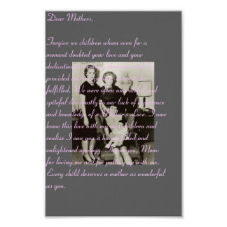 Dear Mothers Print