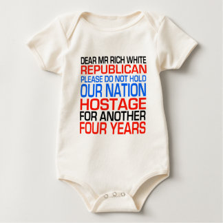 Dear Mr Rich White Republican Baby Bodysuit