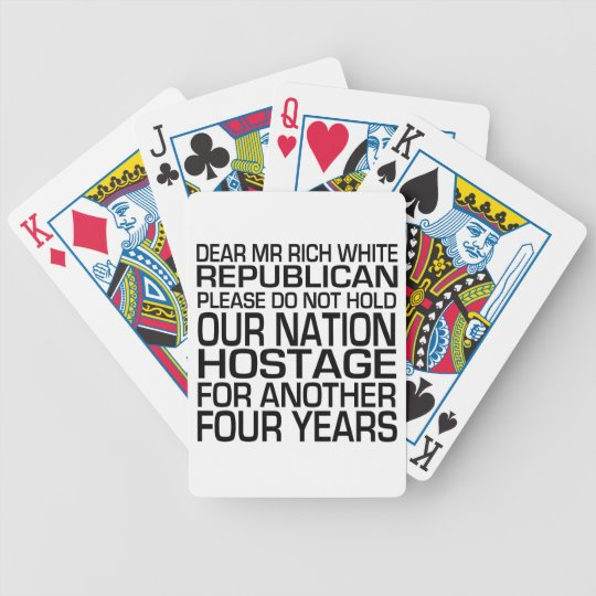 Dear Mr Rich White Republican Bicycle Playing Cards
